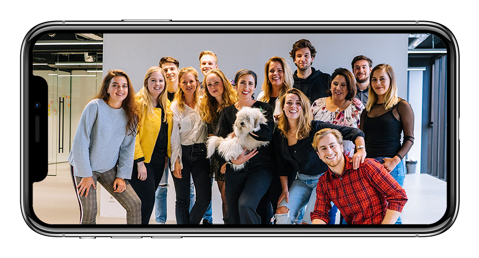 iPhone team mensen Scoopies Scooperz