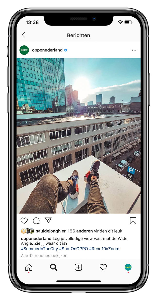 OPPO Instagram post wide angle